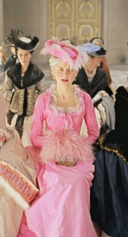 You would not see this bright of a pink in 18th century France